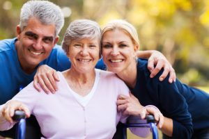 old woman happy about home health care